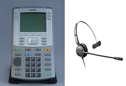 Picture of Avaya Nortel 1150E IP Telephone + Eartec 710 or 710D Headset
