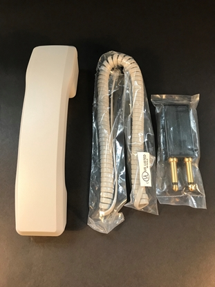 Picture of Nortel M2250 Parts - 2 Prong Adaptor, Curly Cord & Handset