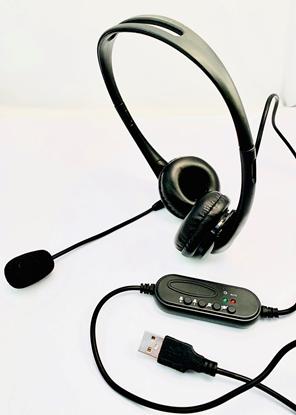 Picture of FoneTech USB 1 Binaural Headset -P/N FTUSB01